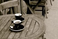 iCoff.ee . Wooden Table and Coffee