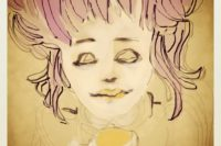 coffee girl portrait