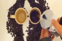 John Lennon Portrait with Coffee