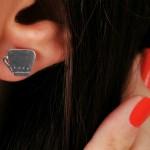 گوشواره نقره فنجانی E11512