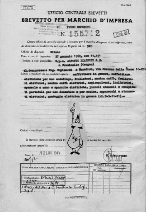 سند مربوط به ثبت نشان تجاری بیالتی: آدمک سیبیلو
