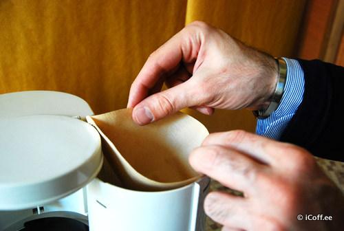 طرز تهیه قهوه با قهوه ساز فیلتری