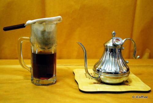 فیلتر پارچهای قهوه