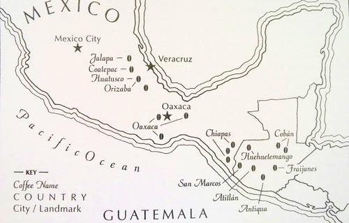 نقشه قهوه مکزیک