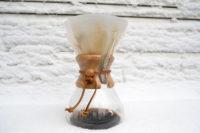 قهوه در برف