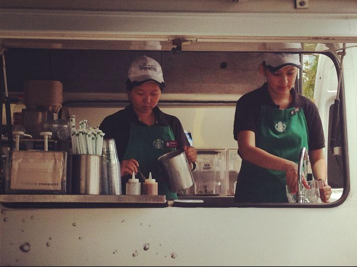 کافه سیار استارباکس سایبرجایا مالزی