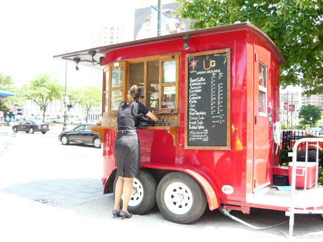 کافه سیار گاری قهوه آمریکا