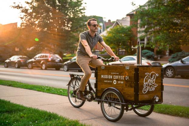 کافه سیار دوچرخه کافهای