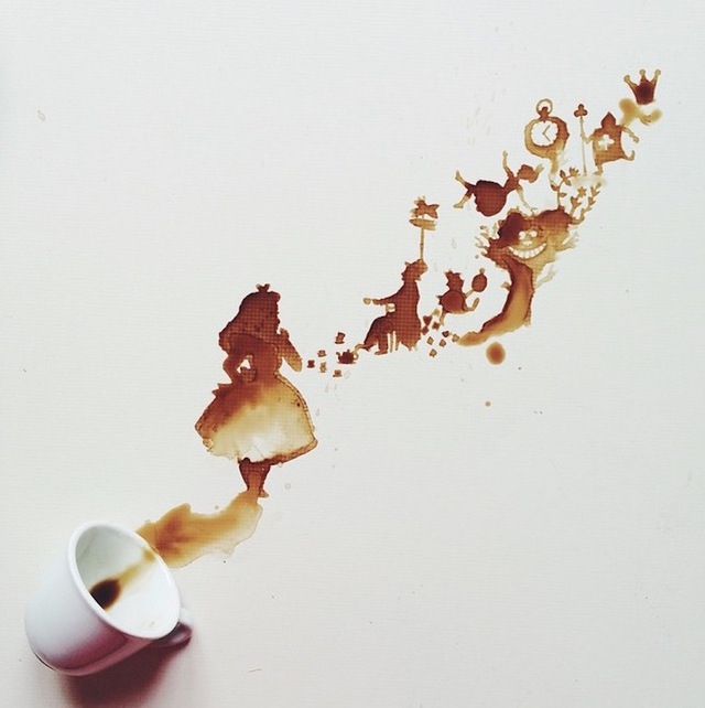 نقاشی با لکه قهوه