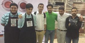 شش باریستای فینالیست (از راست به چپ): سامین رهنورد، میلاد کلانى، برومند پور اسلامى، حمیدرضا بصیرى، امیر پارسا احمدى، مازیار اسلامى