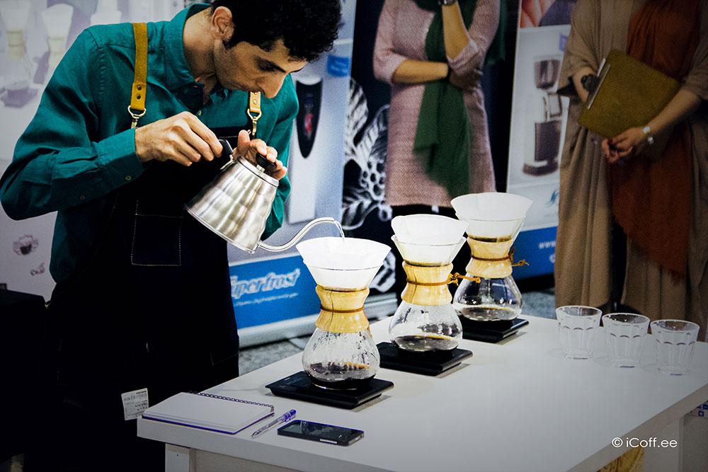 مسابقه قهوه امین خلیل نیا لیمودهی