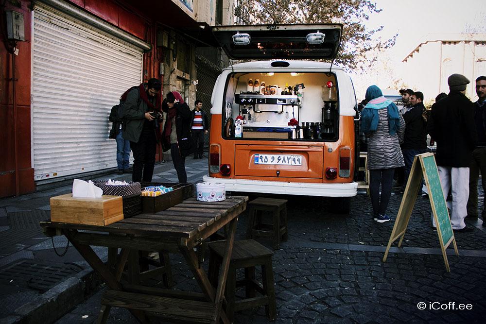 واگن کافی کافه سیار تهران قهوه ایران