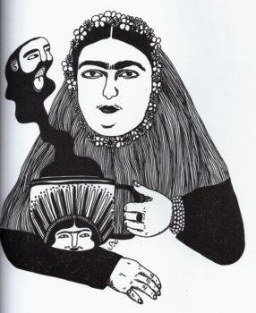تصویرسازی از مشتری هلال (Moshtari Hilal) برای مجله کارتون