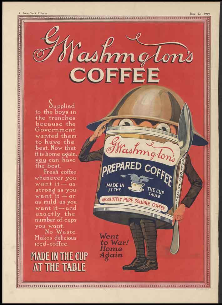 آگهی قهوه جنگ جهانی دوم