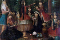 ۷۱۰-Iranian_Ladies_Dancing_Around_a_Samovar - rs