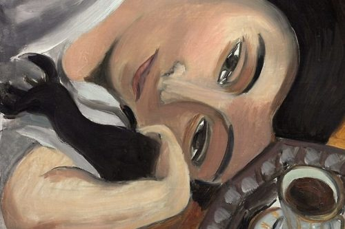لورت همراه با فنجان قهوه اثر آنری مَِتیس(1916/17)