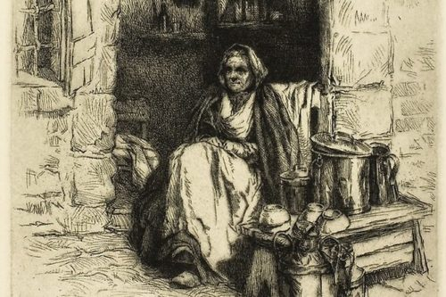 قهوهفروش اثر آرتور ویلیام هینتزلمن (1921)