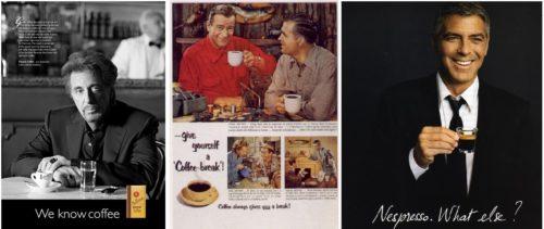 ستارهها در تبلیغات قهوه