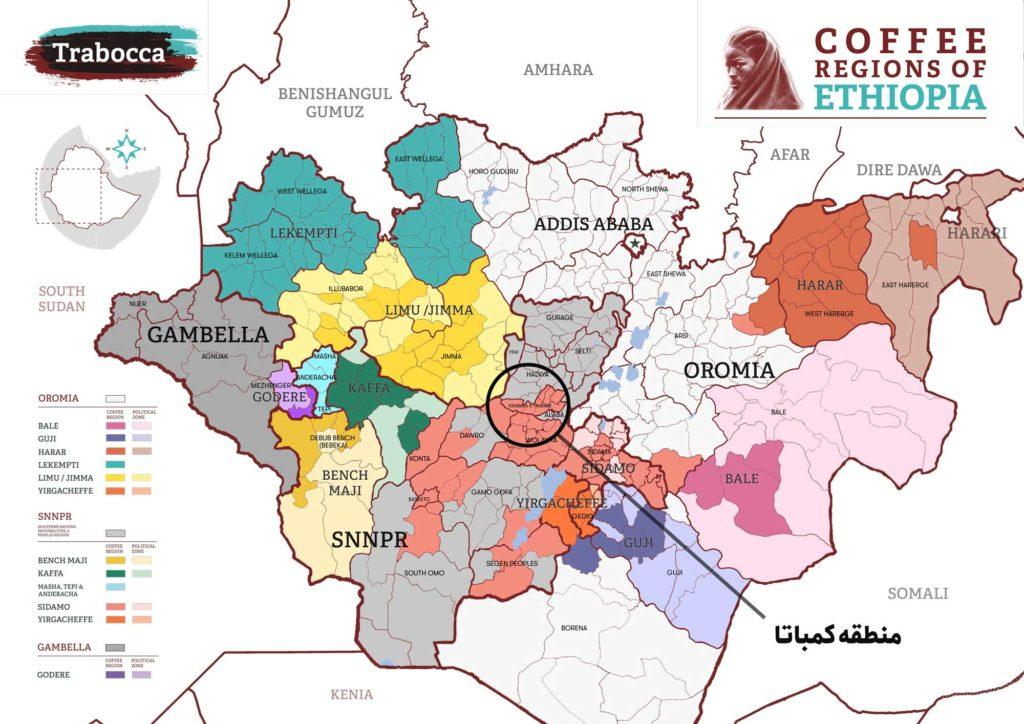 مناطق کشت قهوه در اتیوپی