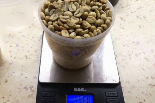 چگالی قهوه سبز
