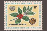 تمبر قهوه که به مناسبت توافق جهانی قهوه در ۱۹۶۶ منتشر شد