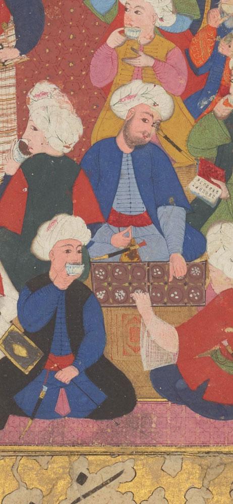قهوهخانه در نگارگری ایرانی