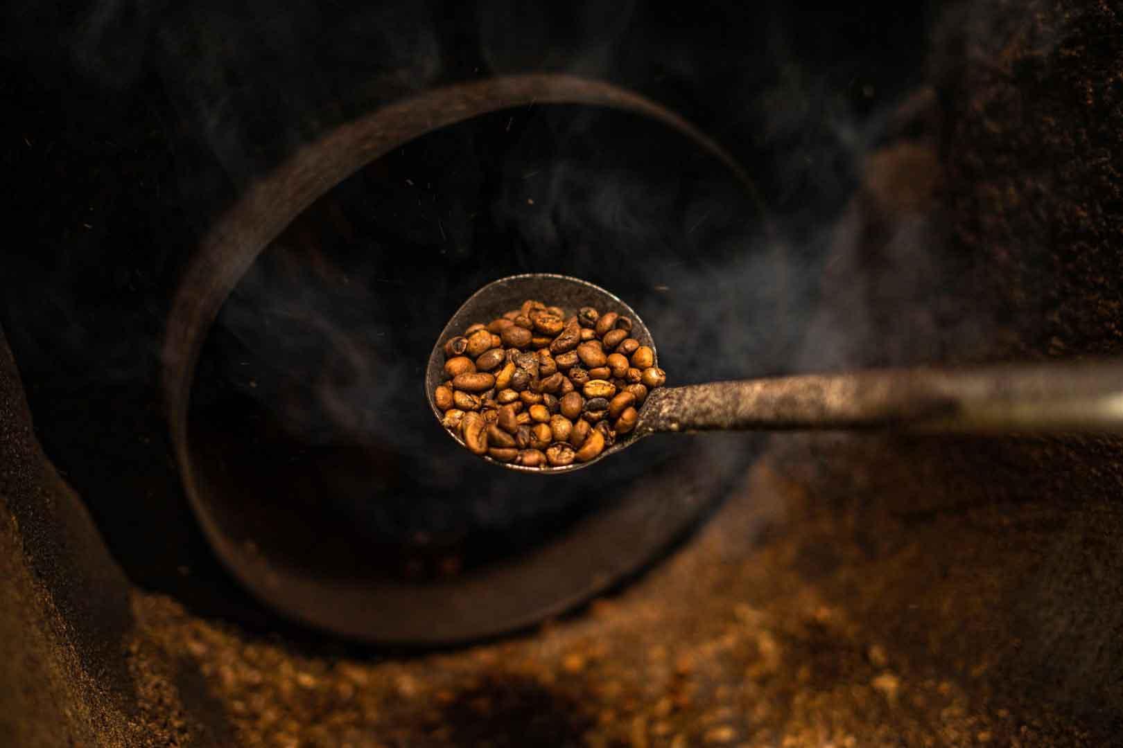 دانه قهوه برشتهکاری شده
