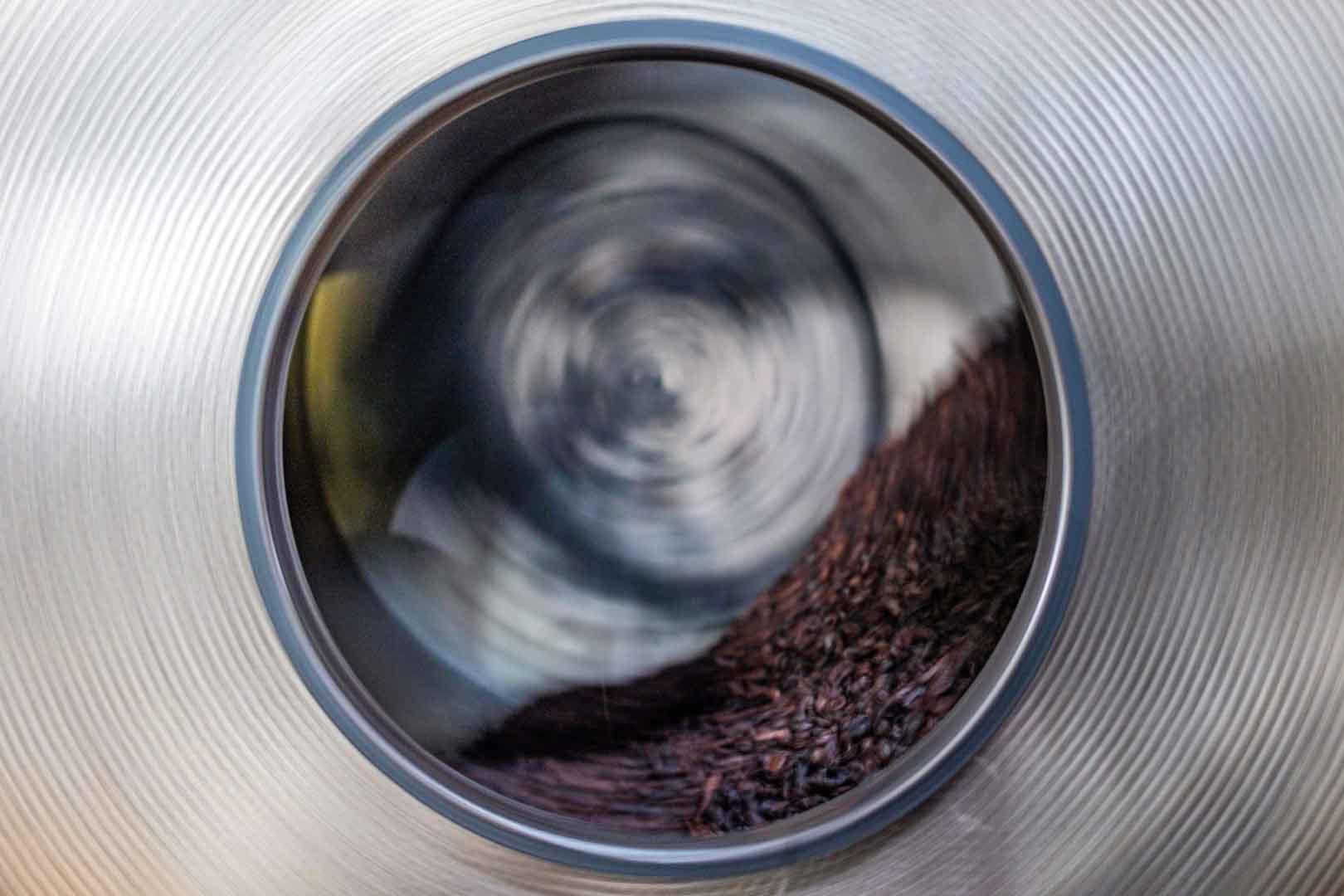 جدا کردن پوسته دانه قهوه