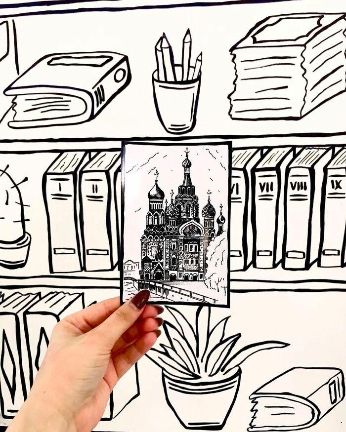کافه دوبعدی در روسیه